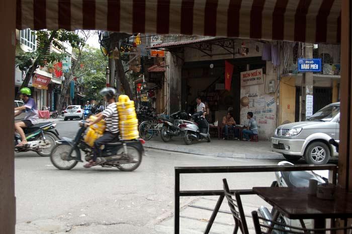 Street corner near my hotel.