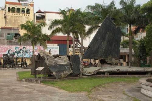 Wreckage of B-52 bomber.