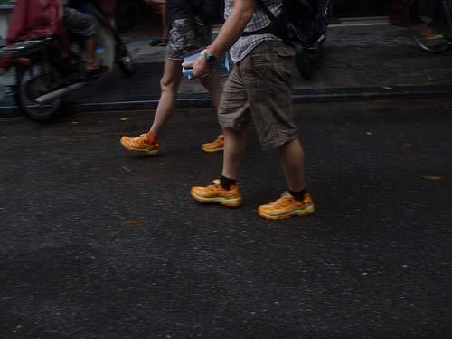 Orange Glow Shoes