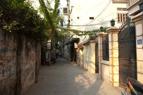 Heading Up the Lane to Cau Giay Street