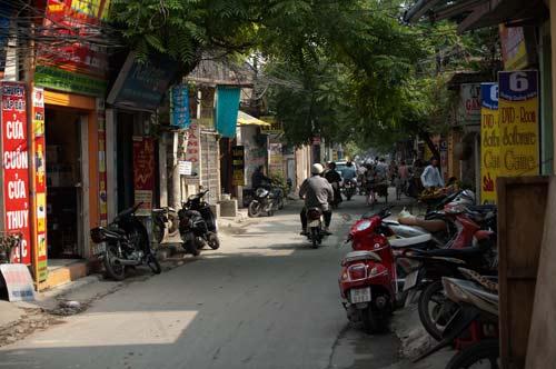 Lane Leaving Cau Giay Street