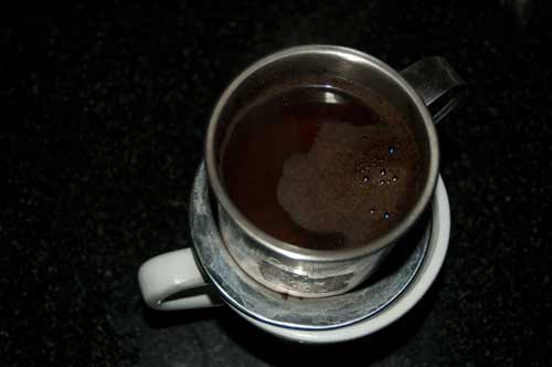 cup of Trang Nguyen coffee