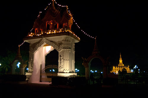 Pha That Luong, The Golden Stupa, Vientiane, Laos