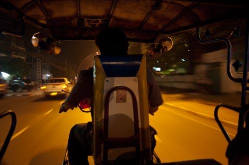 Vientiane, Laos, tuk tuk ride