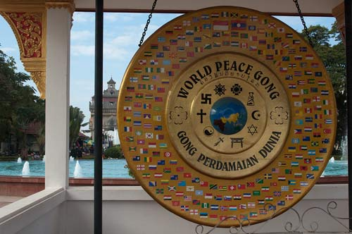 World Peace Gong, Vientiane, Laos