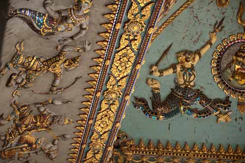 ceiling ornamentation at Patuxay, Vientiane, Laos