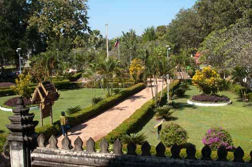 Gardens at Haw Pha Kaew, Vientiane, Laos