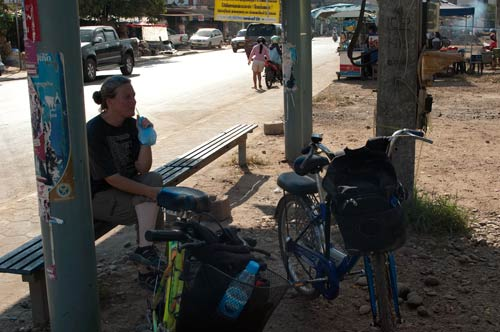 Roadside refreshment, Vientiane, Laos