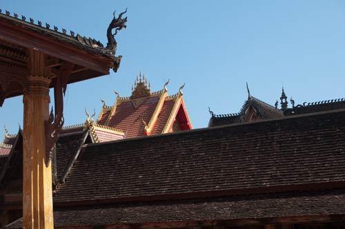 rooflines at Wat Si Saket, Vientiane, Laos