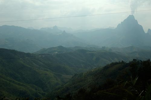 the mountainous road to Luang Prabang, Laos