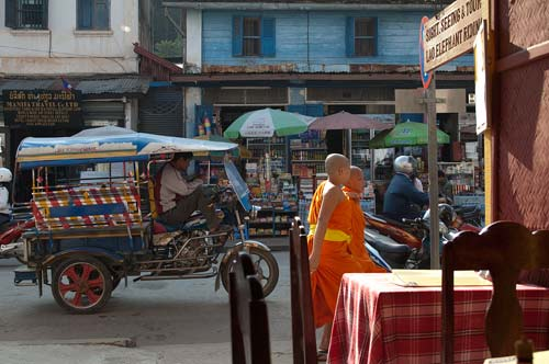 street scene in Luang Prabang, Laos