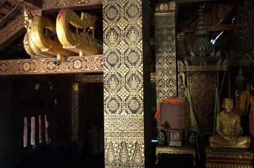 interior of Wat Xieng Thong sim