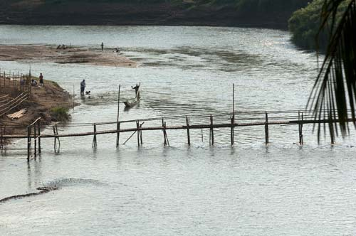 bridge across the Nam Khan River, Luang Prabang, Laos