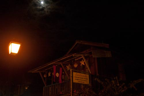 full moon over Luang Prabang, Laos