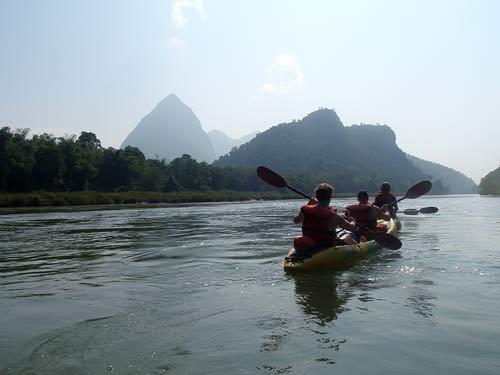 kayaking tour on Nam Pa River, Laos
