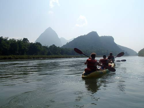 kayaking tour on Nam Pa River, Laos