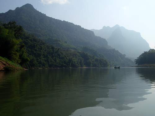 scenery along Nam Pa River, Laos