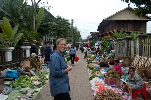 produce market, Luang Prabang, Laos