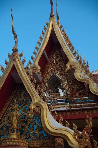 temple roofs, Vientiane, Laos