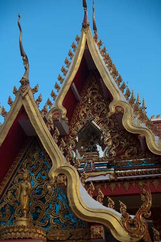 temple roofs, Vientiane, Laos