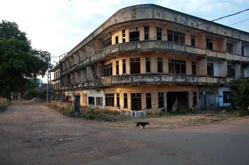 soviet style building, Vientiane, Laos
