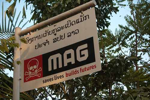 MAG, Mines Advisory Group, Vientiane, Laos