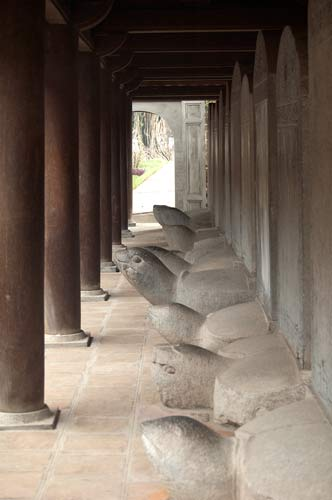 stone steles, Temple of Literature, Hanoi, Vietnam