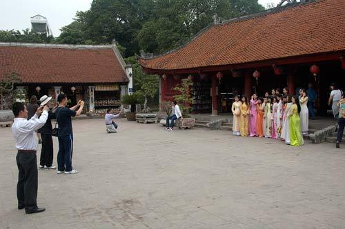 university graduates at Temple of Literature, Hanoi, Vietnam