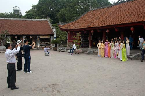 university graduates at Temple of Literature, Hanoi, Vietnam