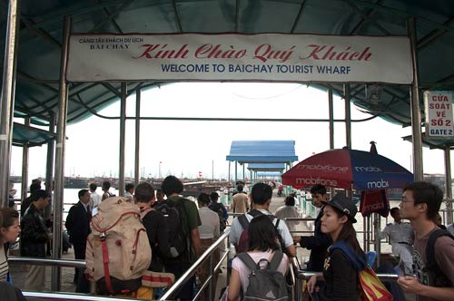 Baichay tourist wharf, Ha Long, Vietnam