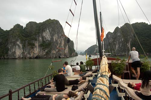 on the junk Imperial, Ha Long Bay, Vietnam