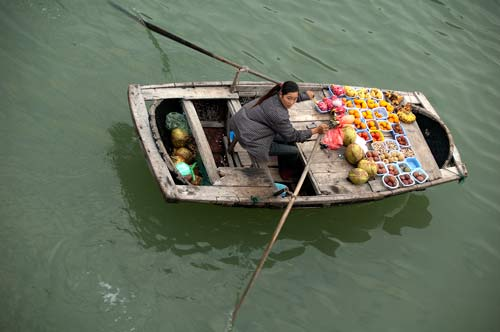food vendor, Ha Long Bay, Vietnam