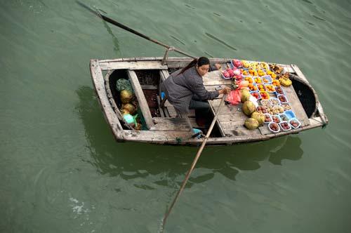 food vendor, Ha Long Bay, Vietnam
