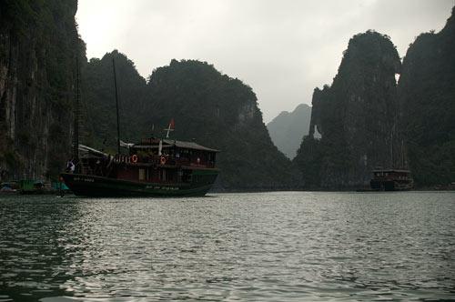 Ha Long Bay island rock formations