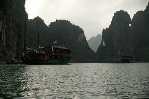 Ha Long Bay island rock formations