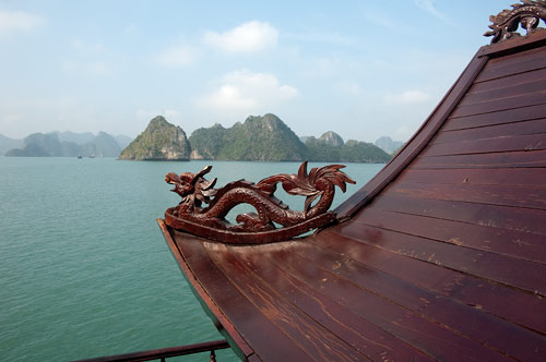 the dragon and Ha Long Bay, Vietnam