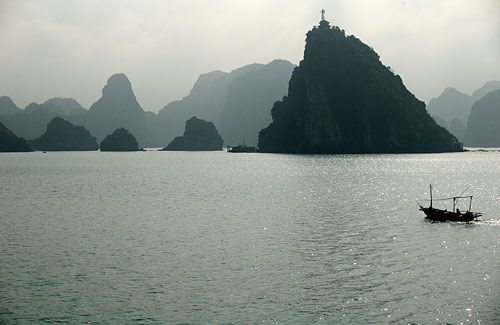 leaving Ha Long Bay, Vietnam