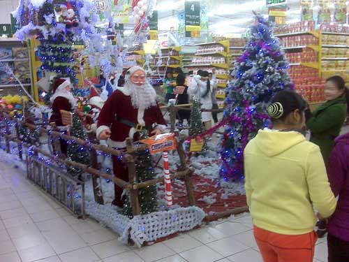 Christmas at Big C, Hanoi, Vietnam