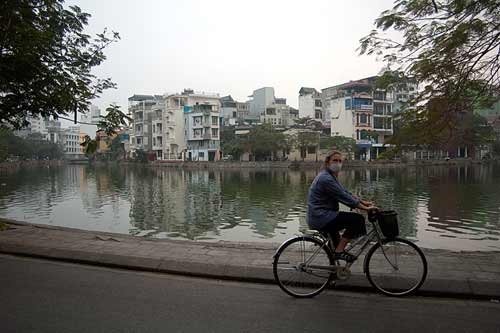 Sue by Truc Bach Lake, Hanoi, Vietnam