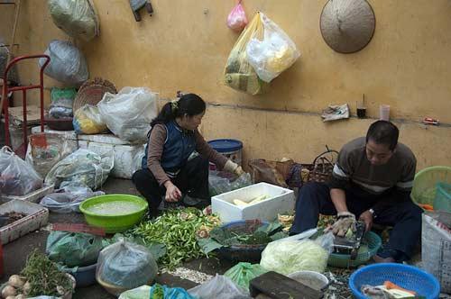 produce market, Hanoi, Vietnam