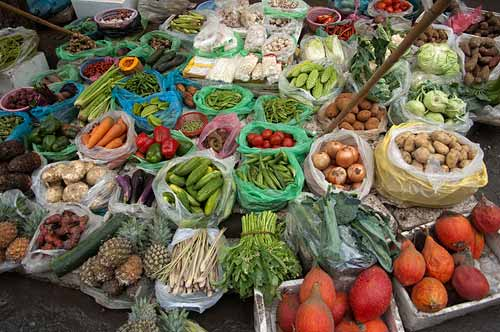 fruit and produce, Hanoi, Vietnam
