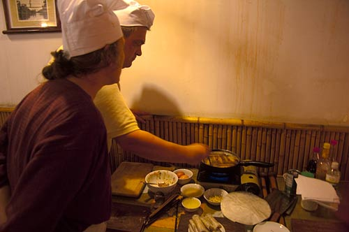 cooking lessons, Blue Butterfly Restaurant, Hanoi, Vietnam