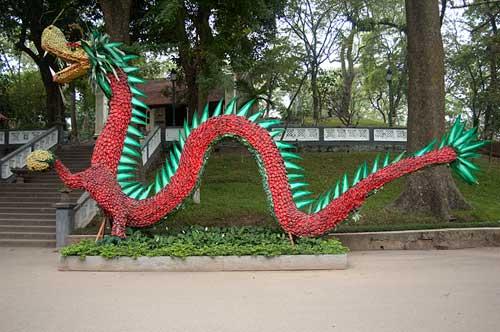 Floral dragon, Hanoi, Vietnam