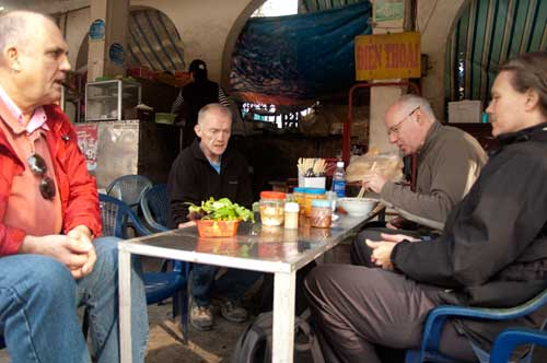 breakfast at the bus station, Hanoi, Vietnam