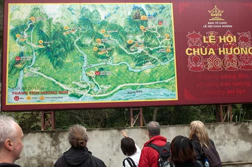map of Perfume Pagoda region