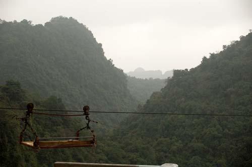 view of hills around the Perfume Pagoda