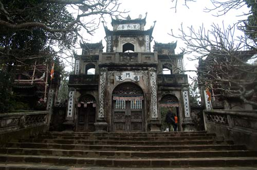 entrance to Thien Tru Pagoda