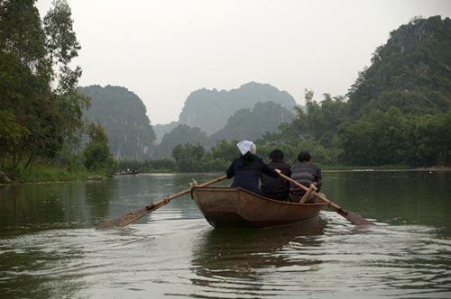 boat on Day River, Vietnam