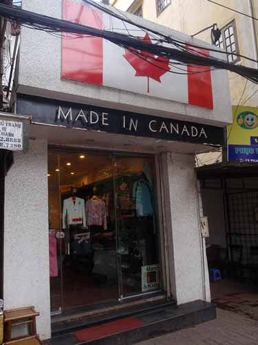 Made in Canada store, Hanoi, Vietnam