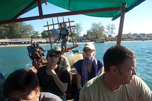 boating to Bamboo Island, Cambodia